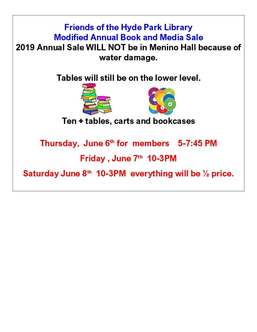2019 book sale