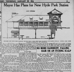 Hyde Park Station-1912 drawing