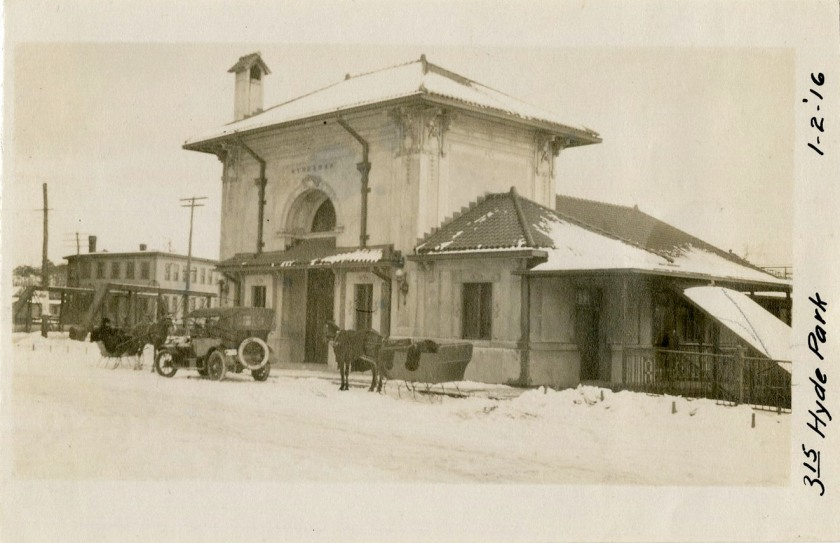 photo_street level with snow, horse-car-snow 1-2-1916